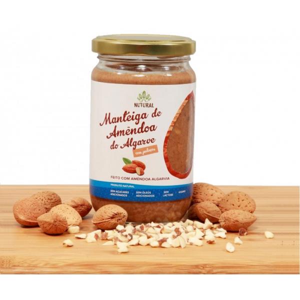 Manteiga de Amêndoa do Algarve COM PEDAÇOS (300g)
