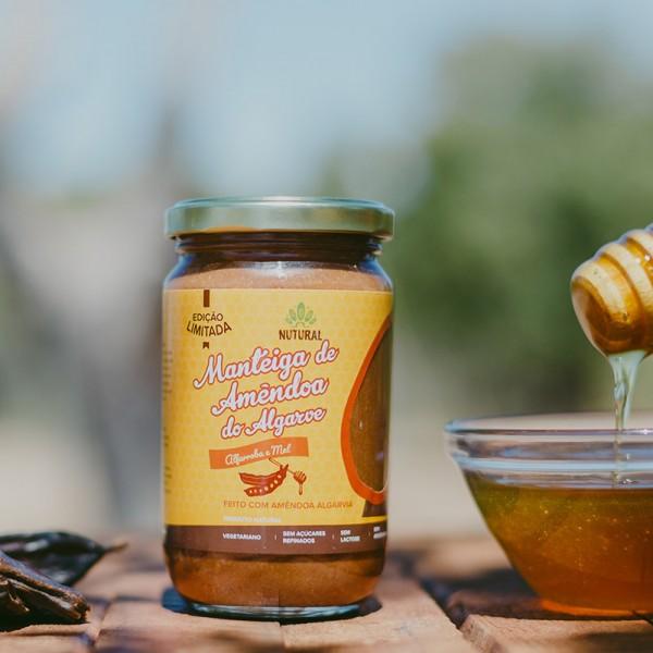 Manteiga de Amêndoa do Algarve ALFARROBA E MEL (300g)