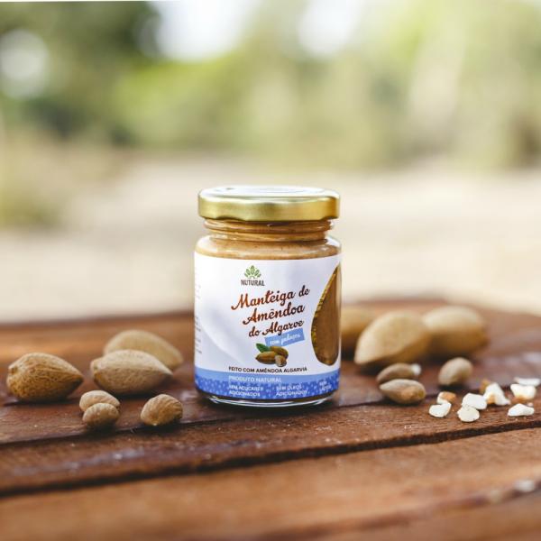 Manteiga de Amêndoa do Algarve COM PEDAÇOS (95g)